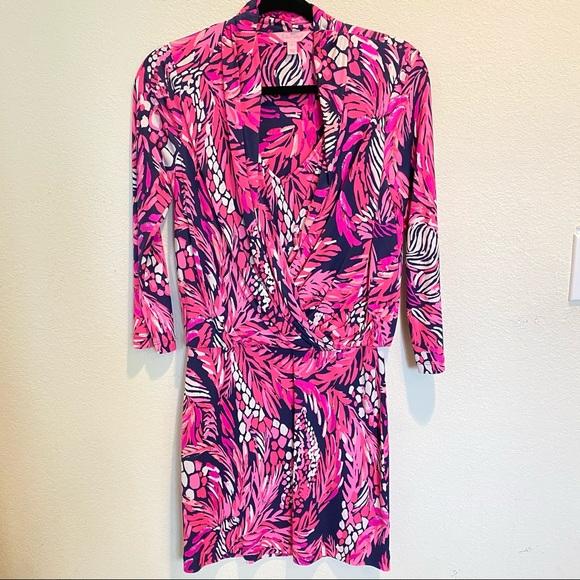 Lilly Pulitzer Felizia Silk Faux Wrap Dress